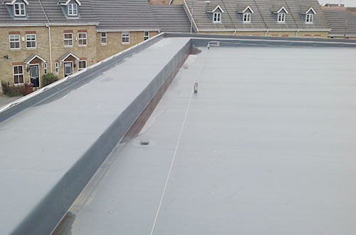 An example of single ply roofing