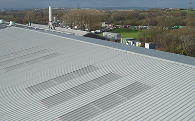 An example of roof sheeting